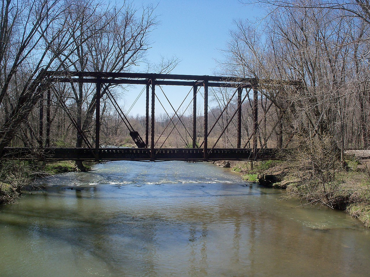 File oneida ohio rr bridge over sandy creek from upstream for Sandy creek
