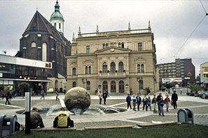 Opava - Image: Opava Horní náměstí Theater Mariä Himmelfahrt