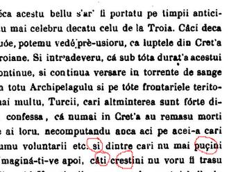 Cedilla - Operele Principelui Demetriu Cantemiru, 1876, p. 403, detail.