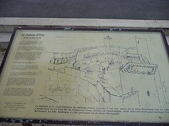 Orbe - Plan of Orbe Castle