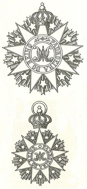 Order of the Immaculate Conception of Vila Viçosa - Breast Star of the Grand Cross and sash insignia of the Order of the Immaculate Conception of Vila Viçosa