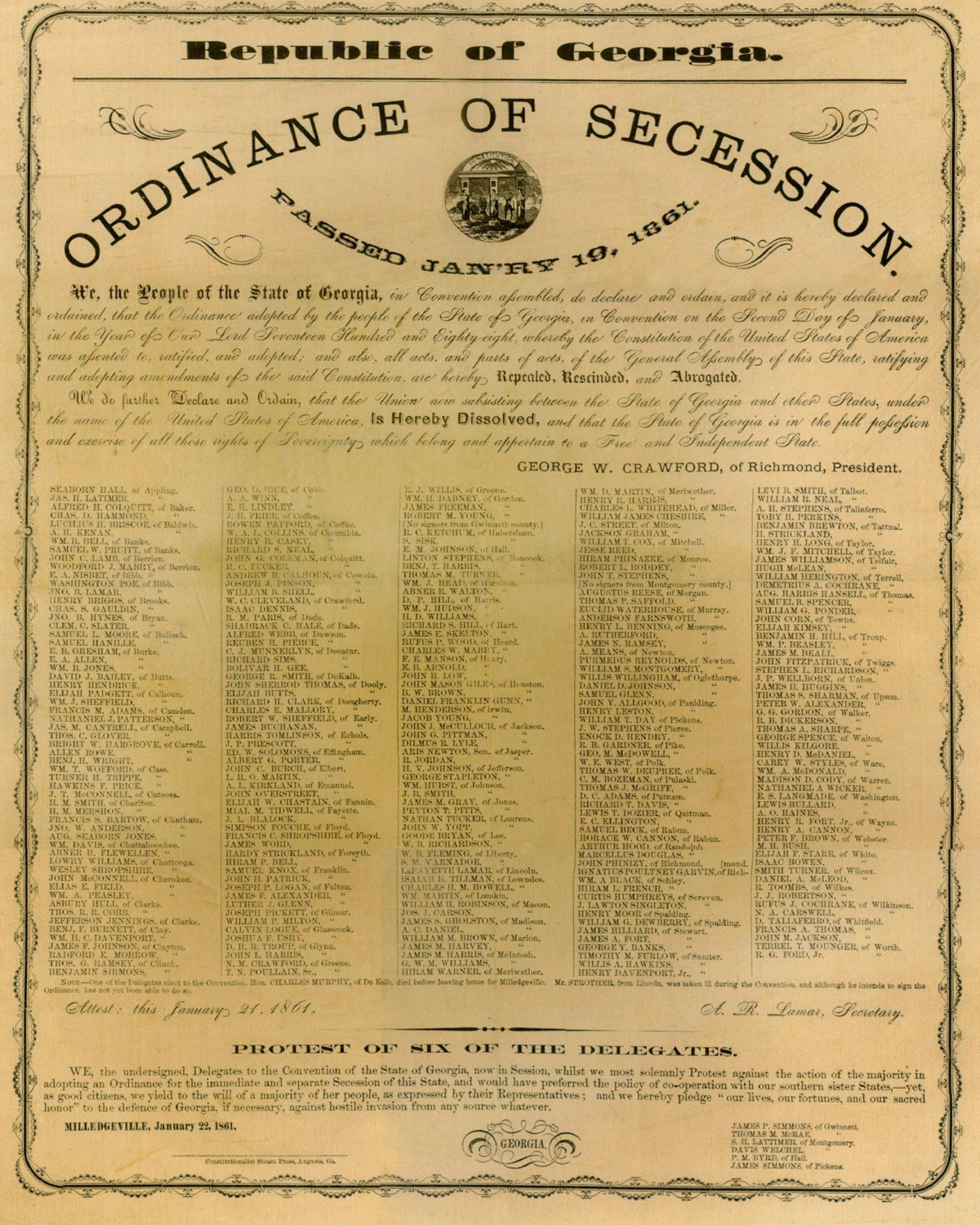 The Declaration of Causes of Seceding States