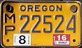 Oregon 2016 Moped license plate.jpg