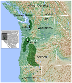 Oregon Spotted Frog Rana pretiosa distribution map 3.png
