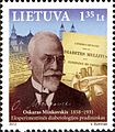 Oskar Minkowski 2012 Lithuanian stamp.jpg
