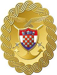 Emblème de l'armée de la république de Croatie