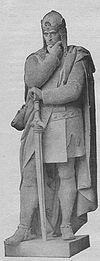 Dziewiętnastowieczny pomnik Ottona II dłuta Maxa Ungera stojący niegdyś na Siegesallee w Berlinie