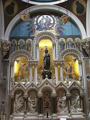 Our Lady of Dublin - The Shrine of Our Lady of Dublin in Whitefriar Street Carmelite Church