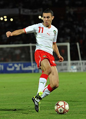Oussama Assaidi - Assaidi playing for Morocco in 2011