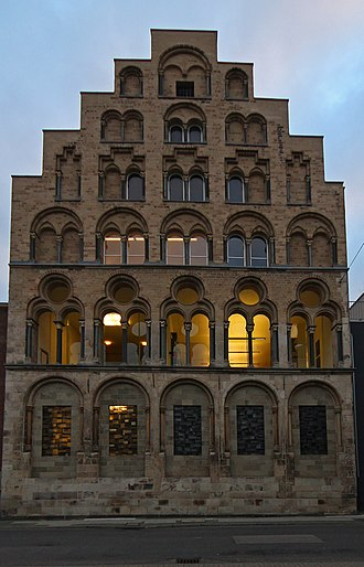 Academy of Media Arts Cologne - the library of the Academy of Media Arts is located in the historic Overstolzenhaus, Rheingasse