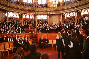 Matriculation - Students arriving for a matriculation ceremony at Oxford
