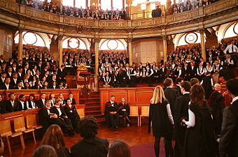 The matriculation ceremony at Oxford