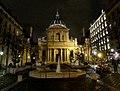 P1070339 Paris V eglise place et fontaine Sorbonne rwk.JPG