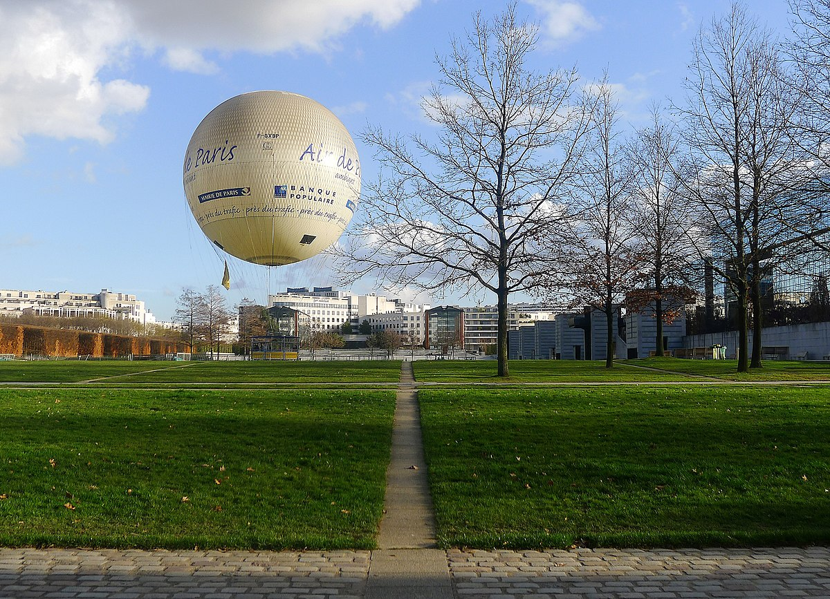 ballon dirigeable parc andre citroen