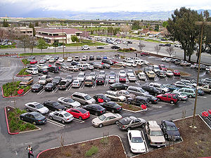 Impervious surface - Parking lots are highly impervious.