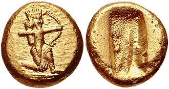 "Agesilaus II - Tens of thousands of Darics (popularly called ""archers""), the main currency in Achaemenid coinage, were used to bribe the Greek states to start a war against Sparta, so that Agesilaus would have to be recalled from Asia Minor."