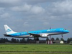 PH-EZM KLM Cityhopper Embraer ERJ-190STD (ERJ-190-100) landing at Schiphol (EHAM-AMS) runway 18R pic3.JPG