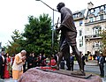 PM Modi pays tribute to Mahatma Gandhi at the Indian Embassy in Washington.jpg