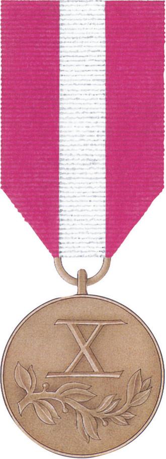 Medal for Long Service - Image: POL Medal Za Dlugoletnia Sluzbe brazowy rewers
