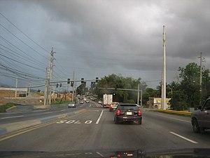 Puerto Rico Highway 1 - PR-1 in La Muda, Caguas.