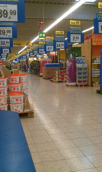 Praktiker - Interior view of a Praktiker store in Neu-Ulm, Germany