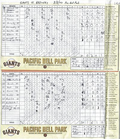 Baseball Scorekeeping  Wikipedia