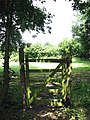Padlocked gate beside footpath - geograph.org.uk - 895550.jpg