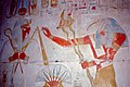 Painted Relief of Seti I receiving the sign of life from Thot ... (36316065400).jpg