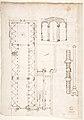 Palazzo Salviati-Adimari elevations (recto) Villa Farnesina stables, plan and section; drawing of a screw (verso) MET DP810643.jpg