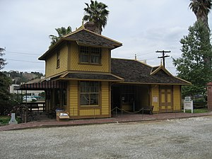 Heritage Square Museum - The 1875 Palms Depot, in new Heritage Square setting