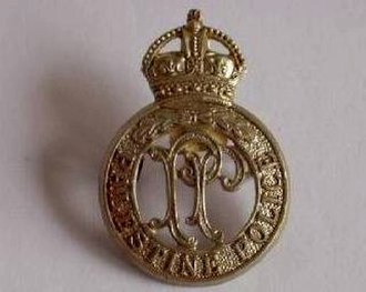 Palestine Police Force - A cap badge of the Palestine Police Force