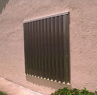 Hurricane shutter - A panel system hurricane shutter made out of aluminum or steel.