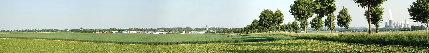 Panoramic view of Rommerskirchen