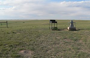 Panorama Point - Register (right of center) and monument (right) at Panorama Point