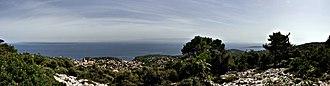 Veli Lošinj - The view from Mt. St. Ivan on Veli Lošinj.