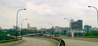 Akron, Ohio - Downtown Akron from the All-America Bridge