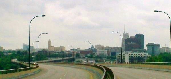 Panorama of Akron Ohio