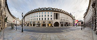 James Burton (property developer) - Image: Panorama of the Quadrant on Regent Street