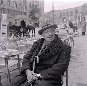 Vincenzo Cardarelli - Vincenzo Cardarelli, photo by Paolo Monti, 1957