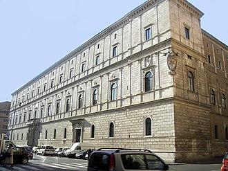 Apostolic Signatura - Palazzo Riario o Cancelleria nuova 1628.