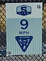 Parley's Trail speed limit sign, Sugar House, Salt Lake City, Utah, Oct 16.jpg