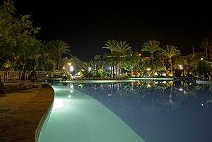 Parque Marítimo del Mediterráneo - Parque Marítimo del Mediterráneo by night