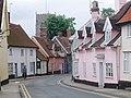 Pastel street scene, Framlingham, Suffolk. - geograph.org.uk - 1475942.jpg