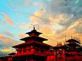 Patan Durbar Square in the evening.jpg