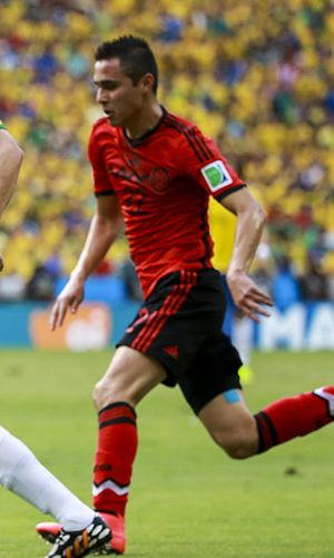 Paul Aguilar - Aguilar playing for Mexico at the 2014 FIFA World Cup