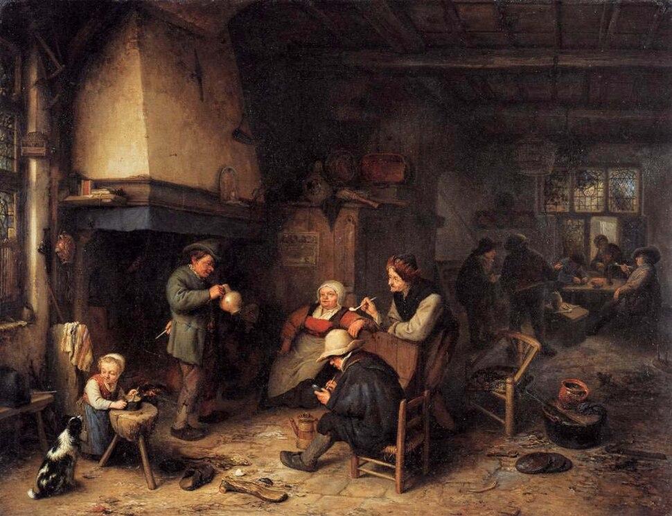 Peasants in an Interior (1661) Adriaen van Ostade