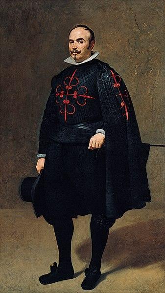 Don Pedro de Barberana y Aparregui, Cavaleiro de Calatrava, por Diego Velázquez.