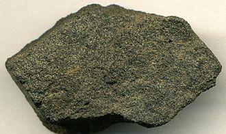 Phosphorite - Peloidal phosphorite, Phosphoria Formation, Simplot Mine, Idaho. 4.6 cm wide.
