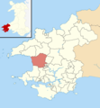 Pembrokeshire UK wards - Camrose locator.png