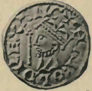 Ealdgyth, daughter of Earl Ælfgar - Silver penny depicting King Harold II of England, the second husband of Edith of Mercia